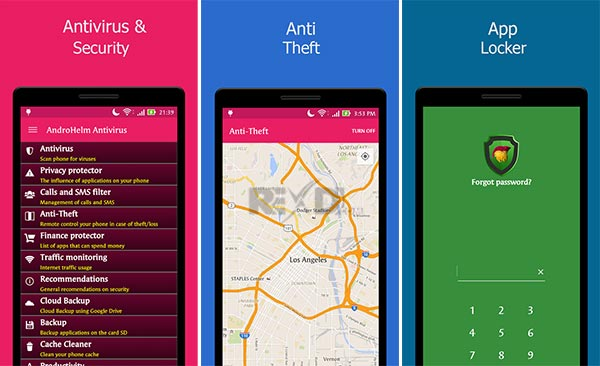 Androhelm AntiVirus Android. premium Apk
