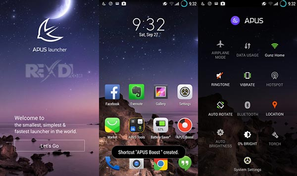Apus system: boost, personalize phone. Beyond android launcher.