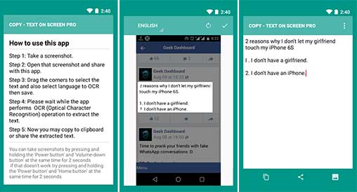 Copy Text On Screen pro Apk