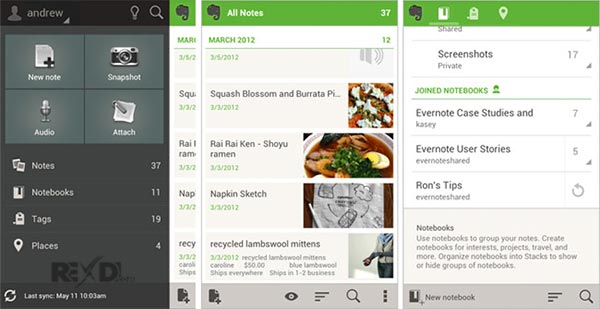Evernote android