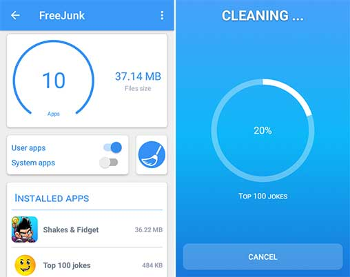 FreeJunk PRO: Junk Cleaner 1 0 0 Apk Unlocked for Android