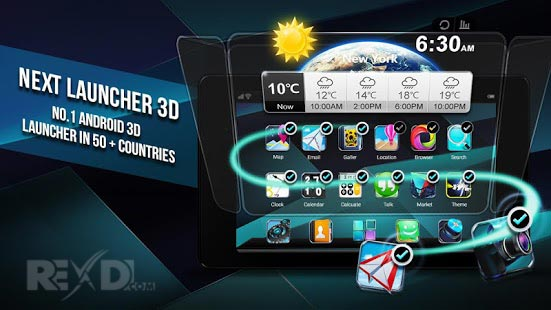 Next Launcher 3D Shell Apk