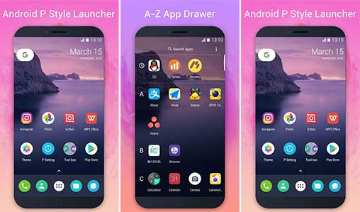 P Launcher – Pie Launcher, circle theme, icon pack Apk