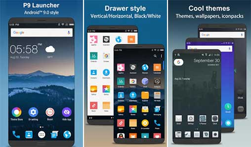 P9 Launcher - Android™ 9 0 P Launcher Style 2 5 Apk for Android