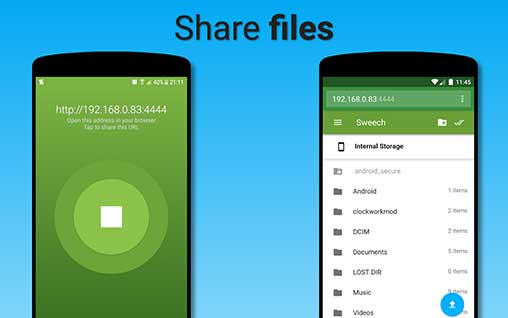 Sweech - Wifi File Transfer 21 Premium Apk for Android