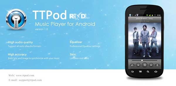 TTPod Apk Music Player