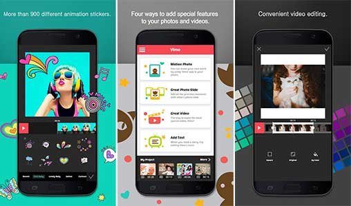 Vimo - Video Motion Sticker and Text Apk