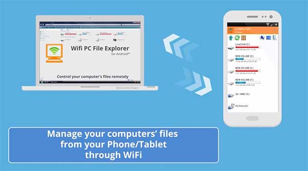 WiFi PC File Explorer Pro