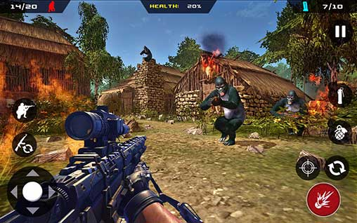 Apes Hunter - Jungle Survival Apk