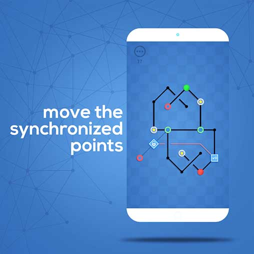 Dots Sync - Symmetric brain game Apk