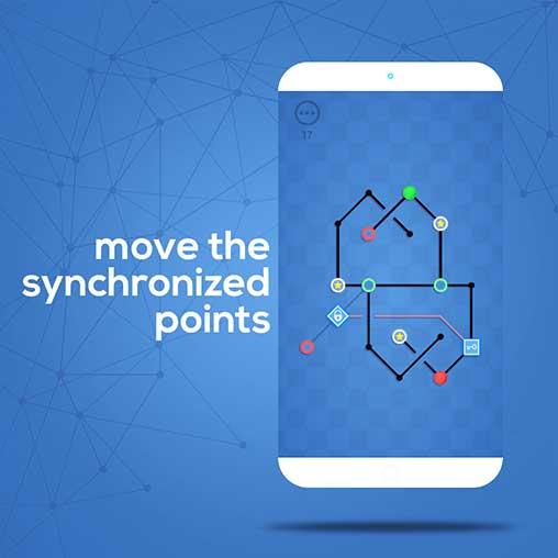 Dots Sync - Symmetric brain game Apk