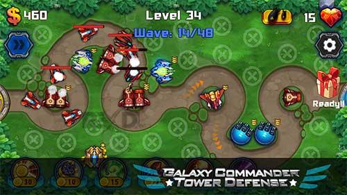 Galaxy Commander Tower defense Apk