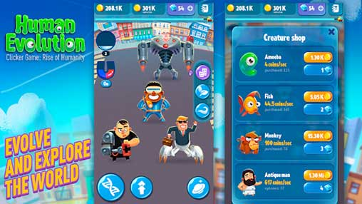 Human Evolution Clicker Game Apk