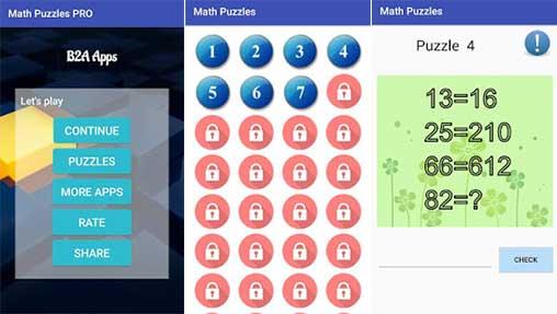 Math Puzzles PRO 2018 Apk