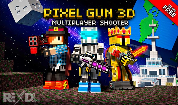 Rexdl.com Pixel Gun 3D Pocket Edition 14.0.5 Apk + Mod + Data Android Revdl.com