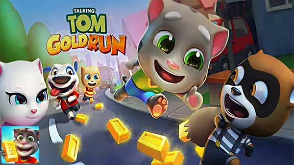Permalink to Talking Tom Gold Run 3.8.0.395 Apk MOD (Gold Bars/Diamond/Dynamite) Android
