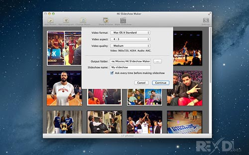 4K Slideshow Maker MacOSX - Create slideshows with 4k images