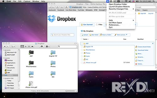 Dropbox for Mac OS X