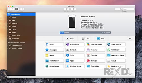 Transfer files and more from any iPhone to Mac or PC
