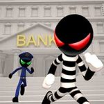 Stickman Bank Robbery Escape 1.1 Apk Mod Money Android
