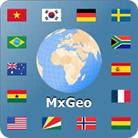 World atlas & map MxGeo Pro Android thumb